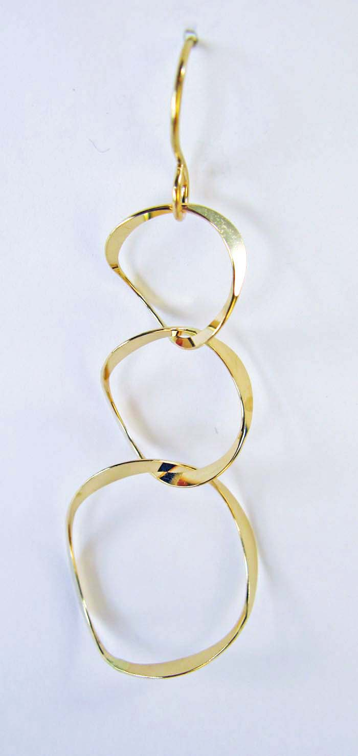 Three Curved Rings Earrings