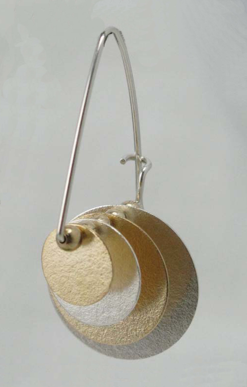 Earrings with Four Discs