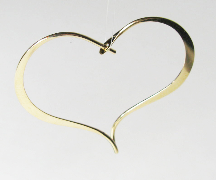 Wire Heart Earring