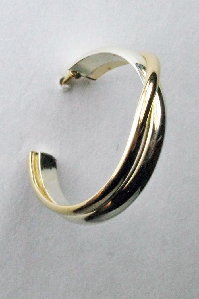 Gold and Silver Hoop Earrings