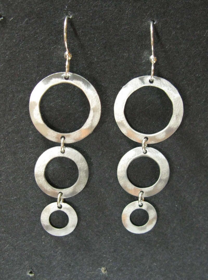 Earrings with Three Rings