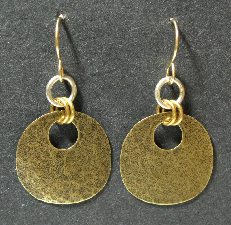 Large Oval Earrings with Jump Rings