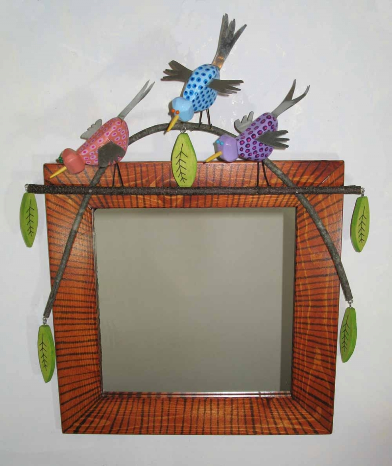 MIrror with Three Birds