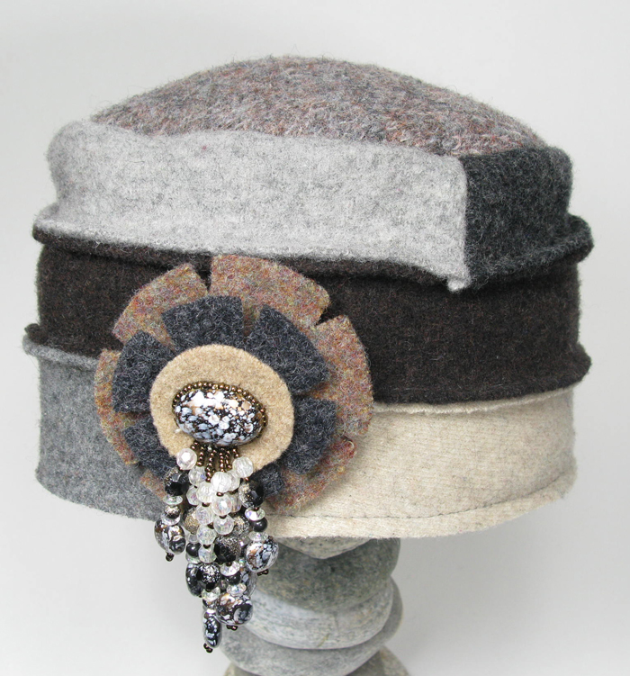 Cloche Hat - Recycled Wool