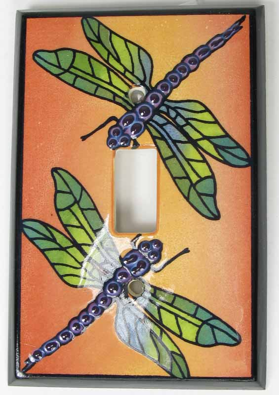 Multi-Color Dragonfly Switch Plate