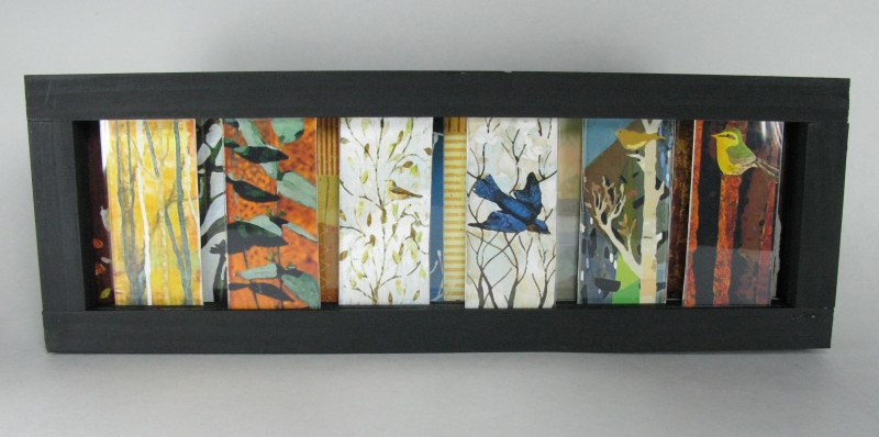 Desk Art Slider - Birds and Trees