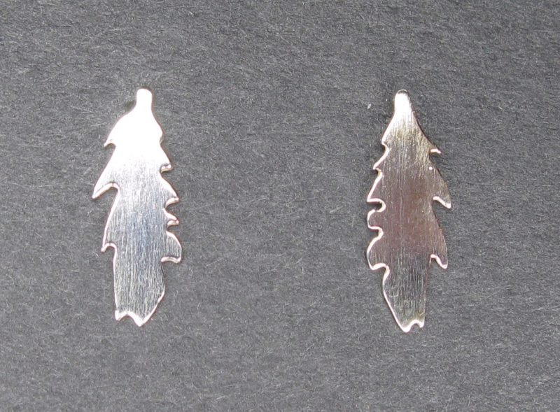 Small Silver Feather Earring on Post