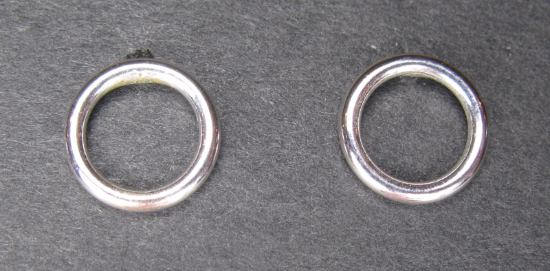 Silver Circle Post Earring