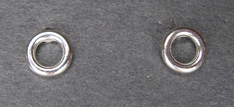 Tiny Silver Circle Post Earring