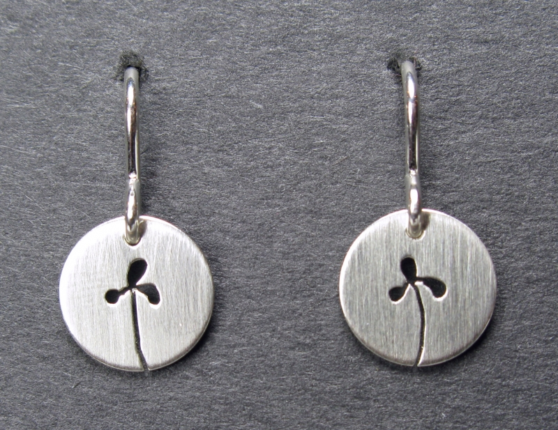 Silver Sprout Earrings