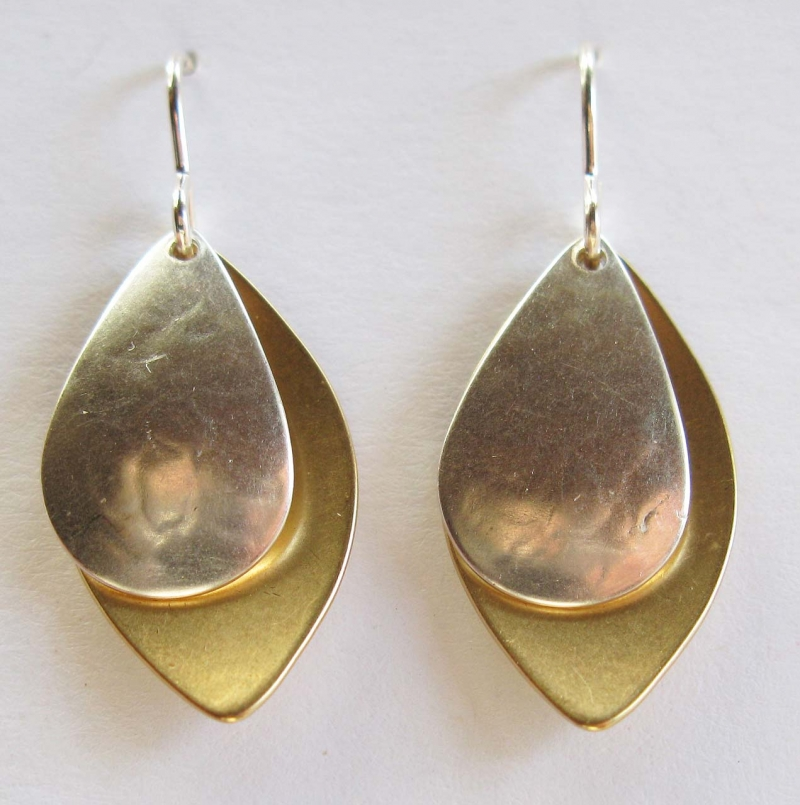 Earrings with Two Ovals