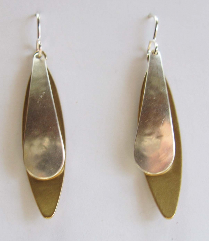 Earrings with Two Long Ovals