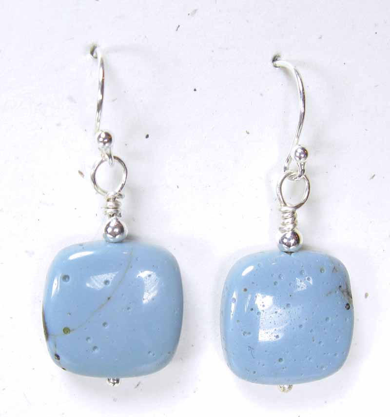 Lg Leland Blue Square Earrrings