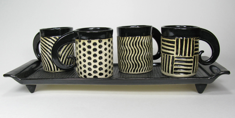 Espresso Cups - Black and White