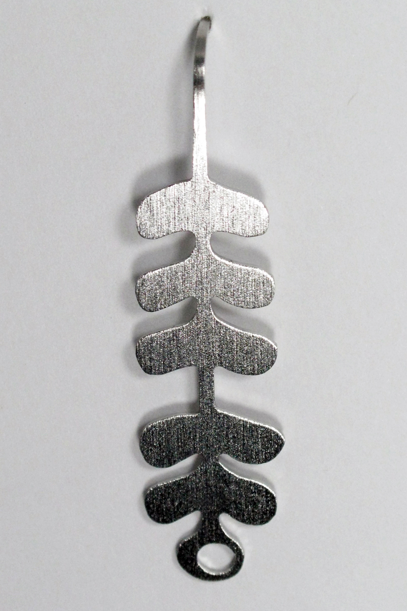 Stacked Leaves Earrings in Stainless Steel