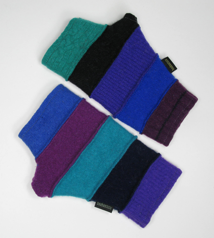 Recycled Fingerless Gloves