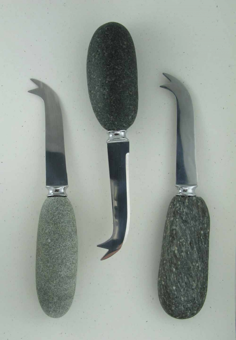 Stone Handle Cheese Knives