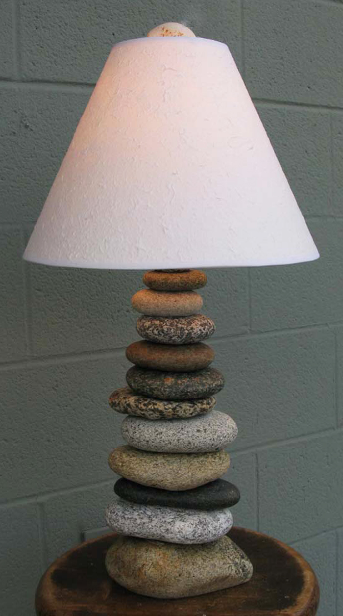 Stone Cairn Lamp