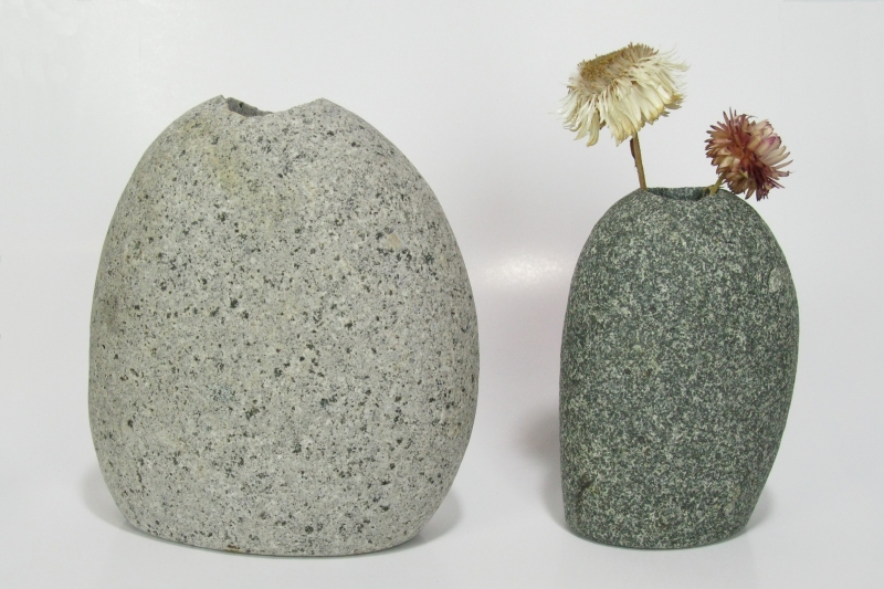 Medium and Large Stone Vases
