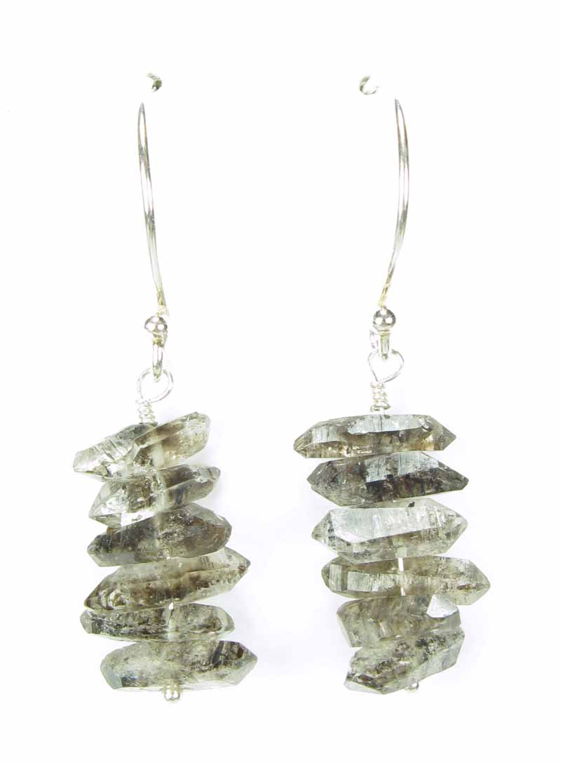 Sterling and Labradorite Chip Earrings