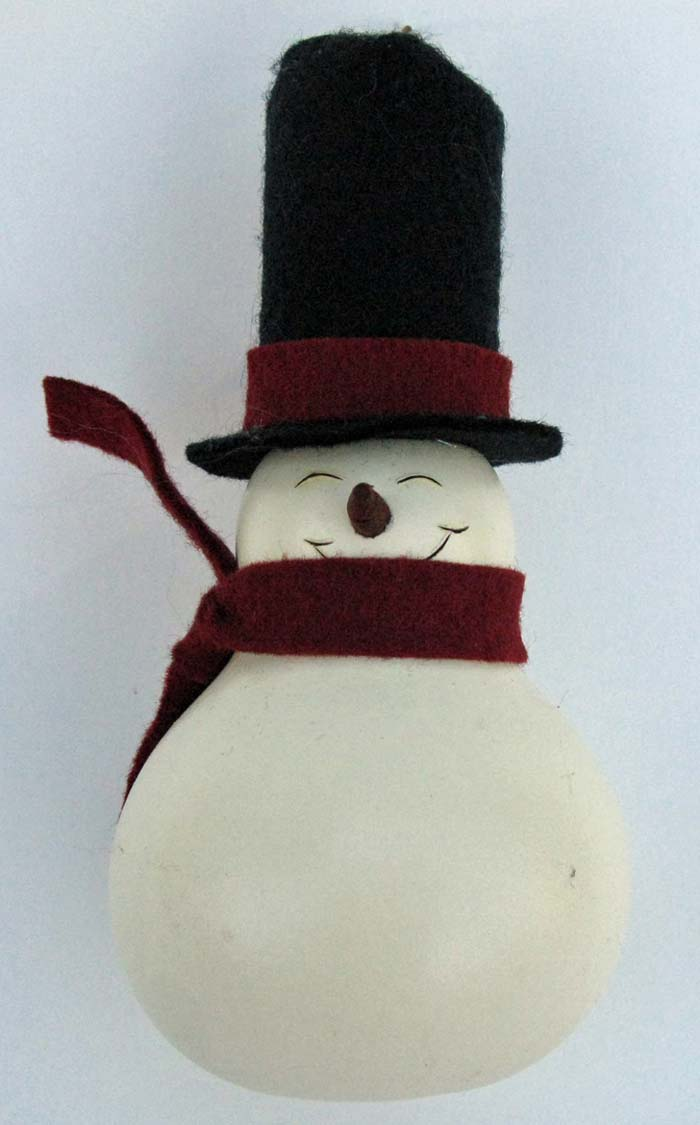 Frosty the Snowman Gourd Ornament