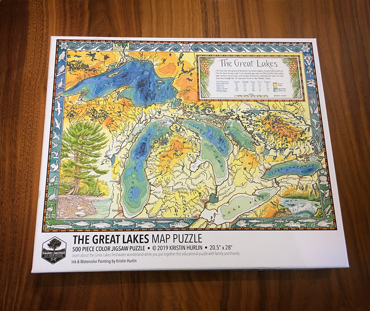 Great Lakes Map Puzzle