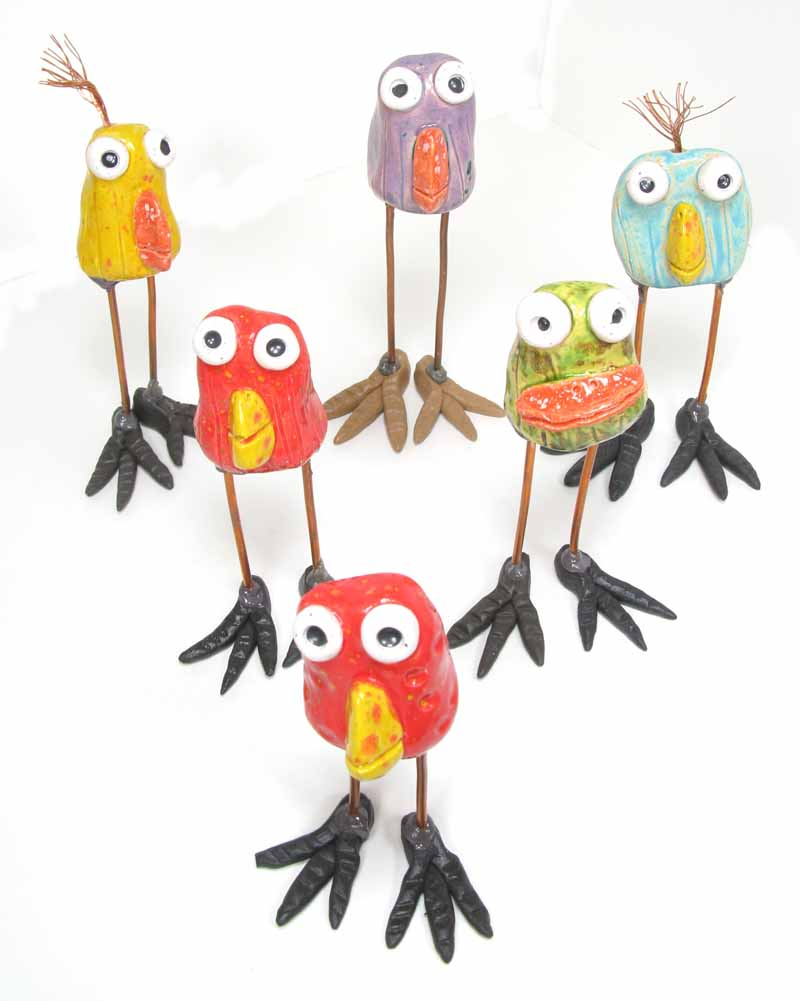 Ceramic Happy Birds