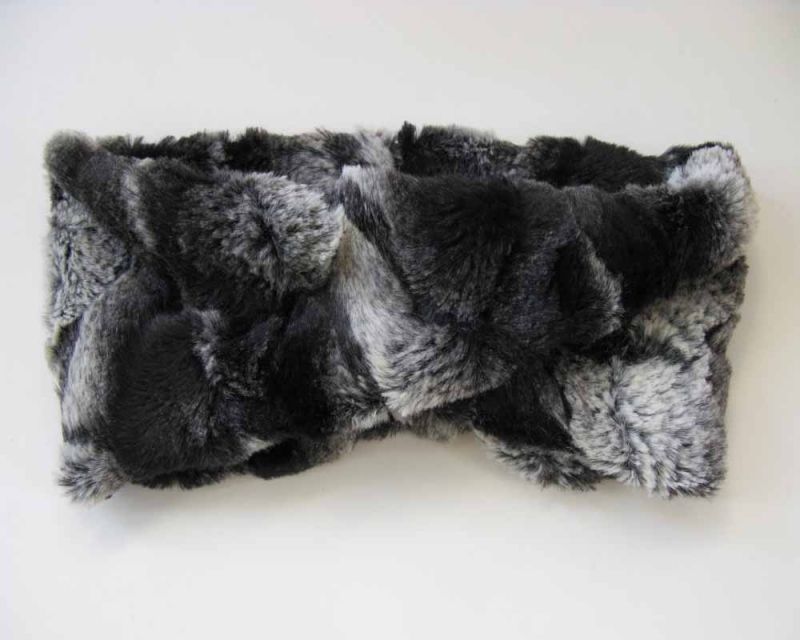 Faux Fur Headband/Neck Scarf in Honey Badger