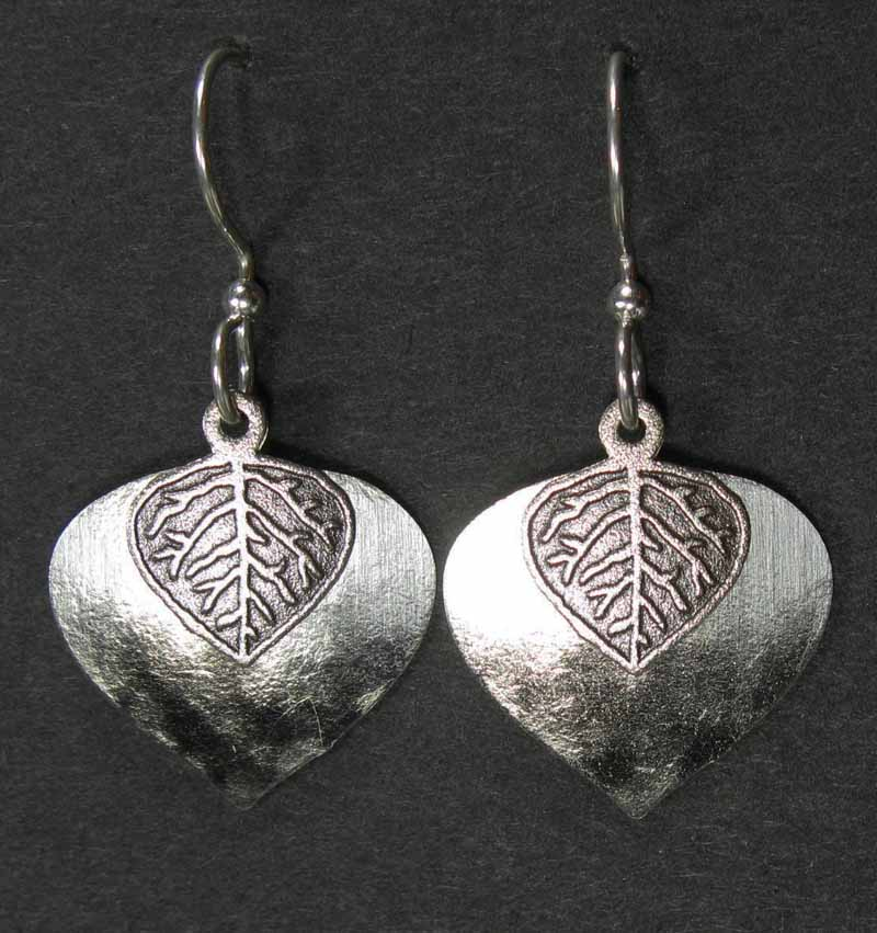 Layered Aspen Leaf Earrings