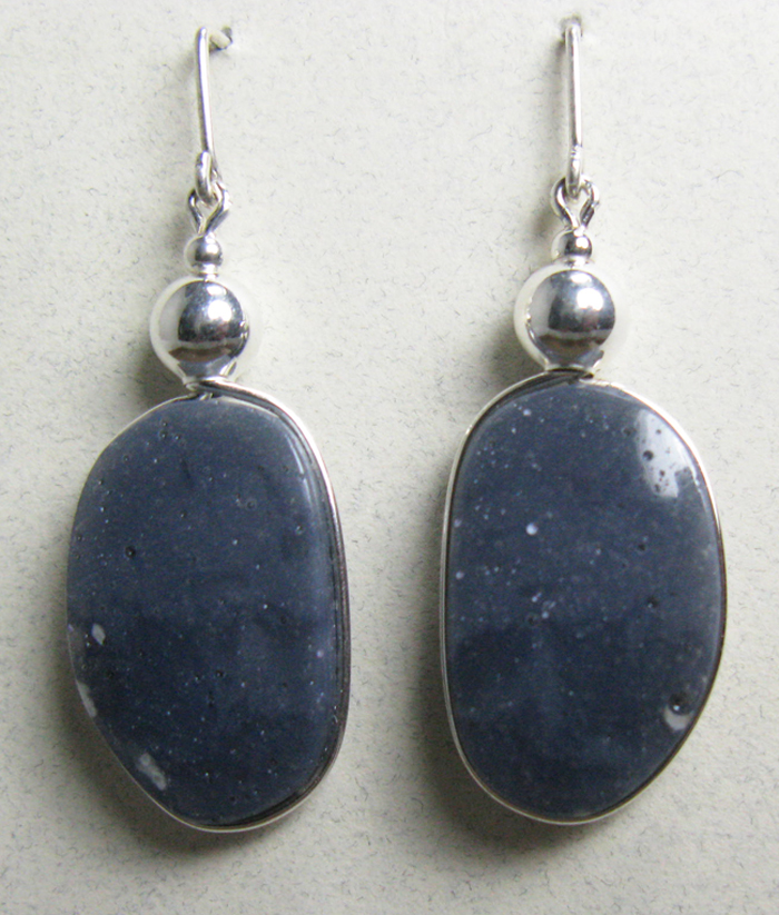 Leland Blue Stone Earrings in Sterling