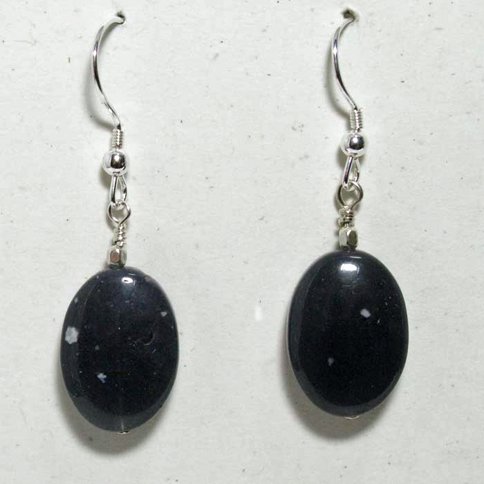 Leland Blue Stone Earrings - Simple Ovals