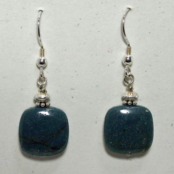 Leland Blue Stone Earrings - Large Cushion Shape