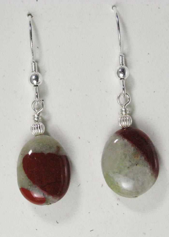 Medium Oval Pudding Stone Earrings