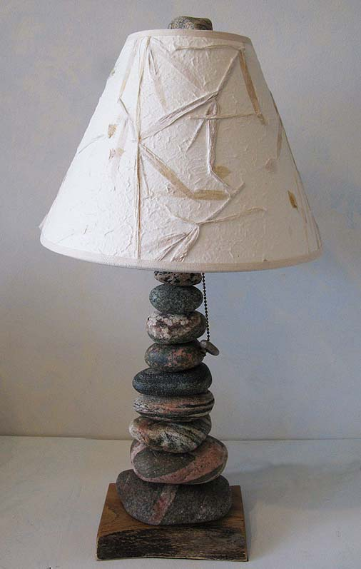 Lake Michigan Beachstone Lamp