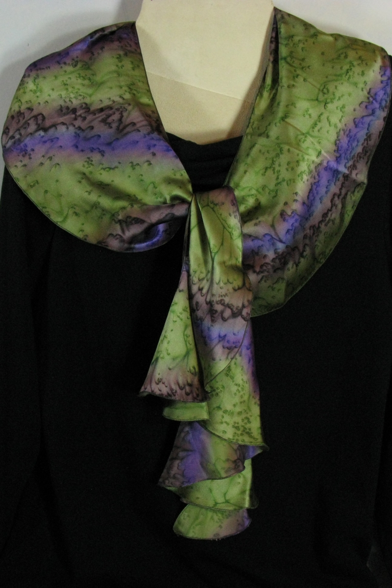 Silk Swirl Scarf in Kiwi