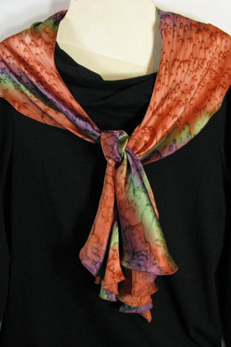 Swirl Scarf in Terra Cotta