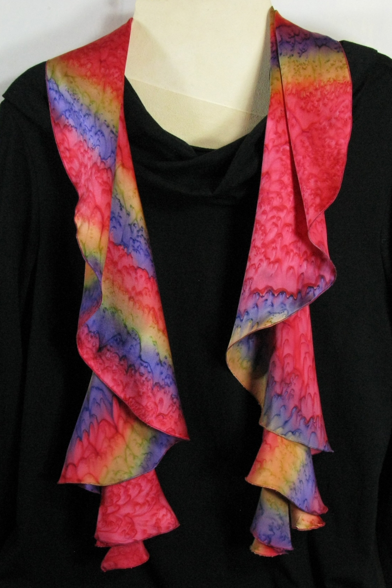 Swirl Scarf in Red, just hanging pretty