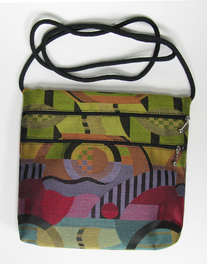 2-Zip Tapestry Bag - 7 1/2 x 10