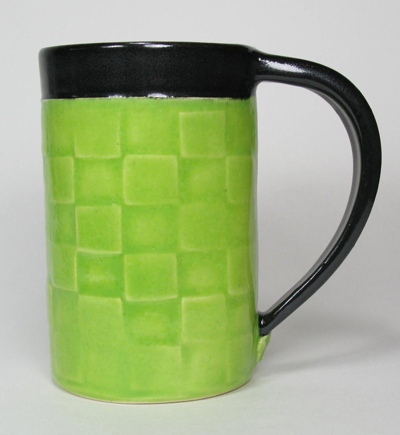 Ceramic Mug in Lime Green
