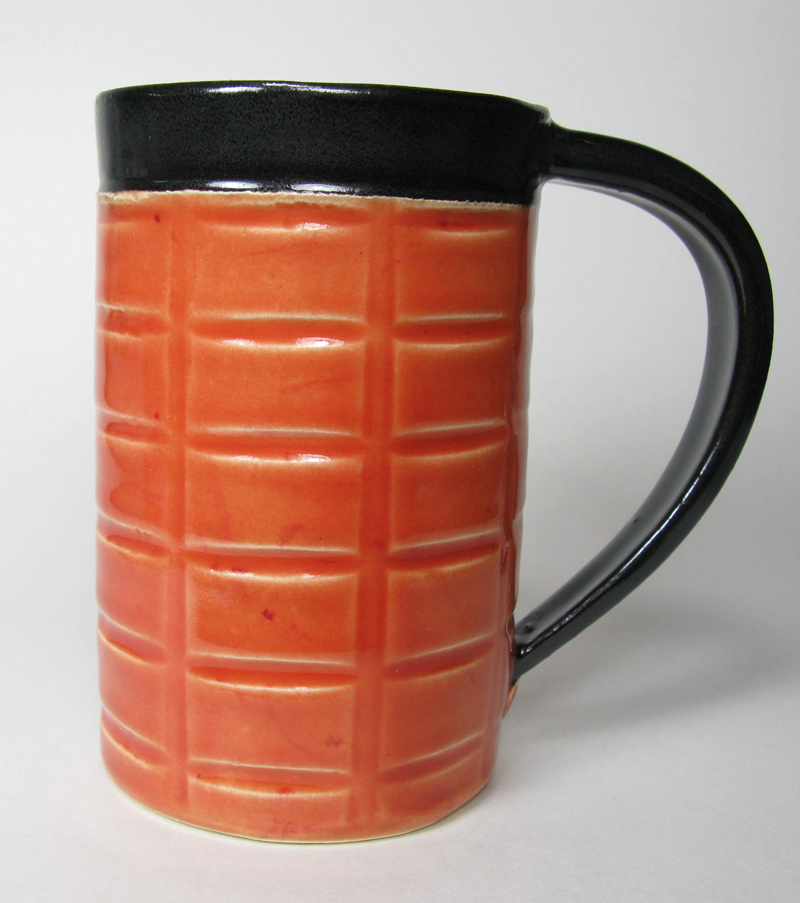 Ceramic Mug in Orange