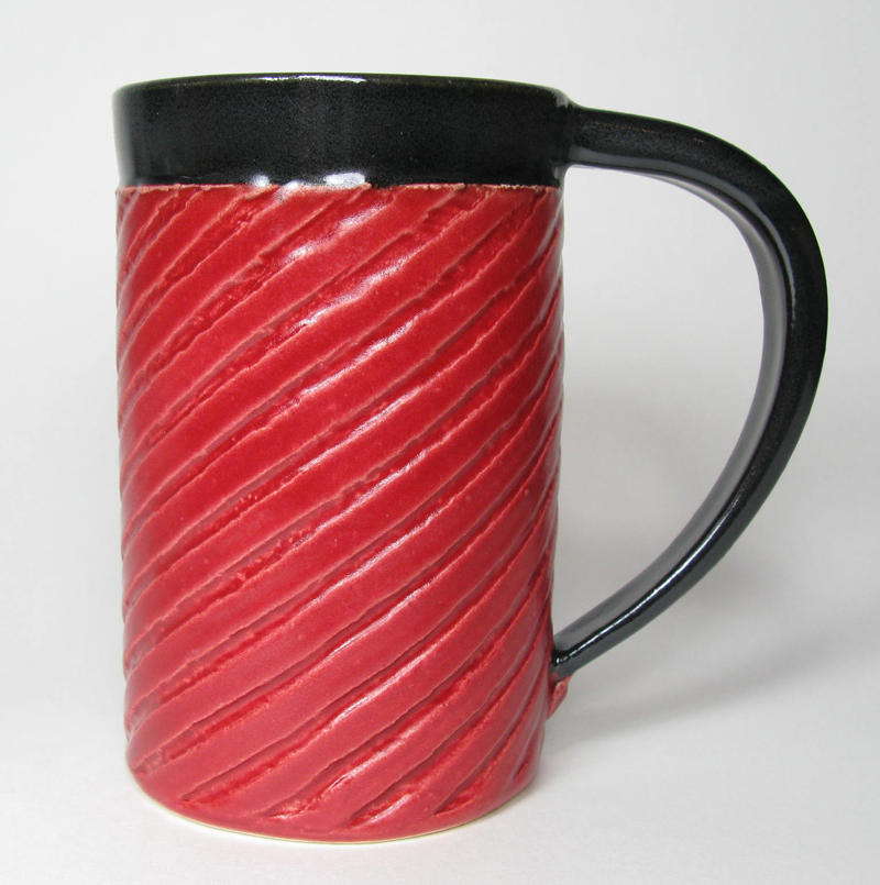 Ceramic Mug in Red