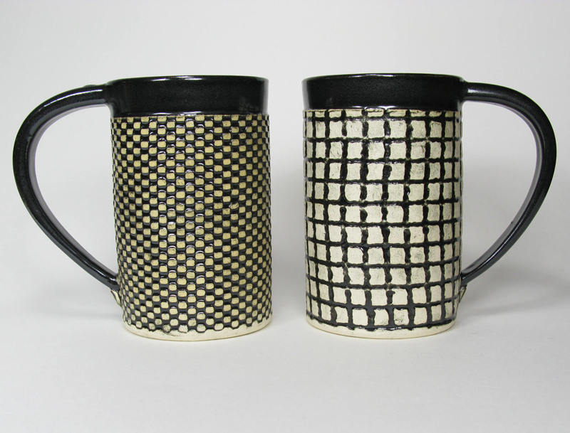 Ceramic Mug - Black and White Checks