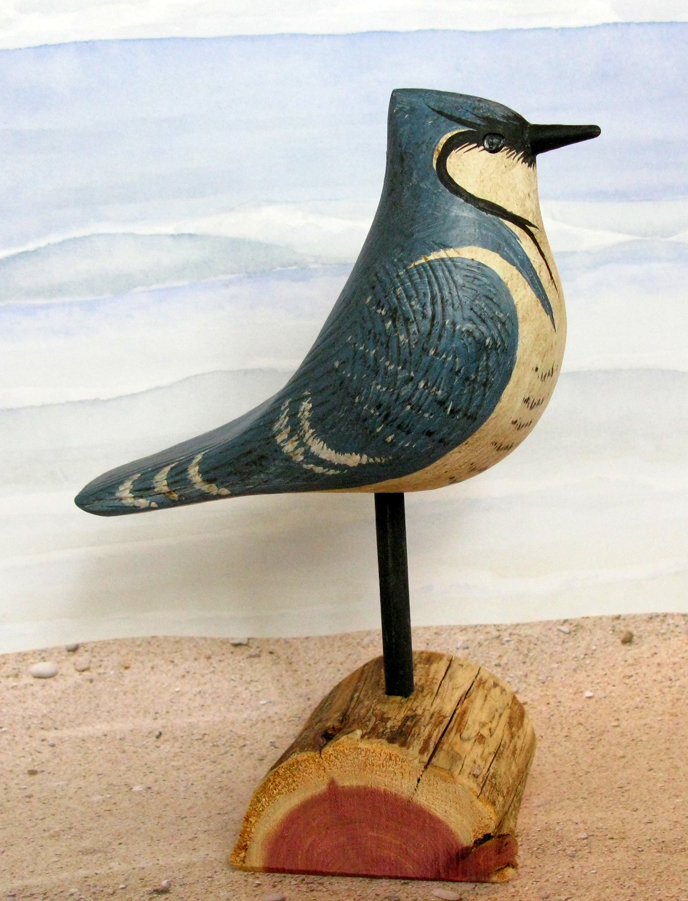 Carved Wood Blue Jay