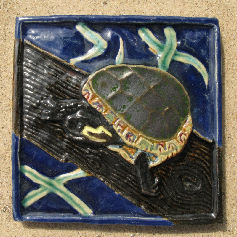 Painted Turtle Tile