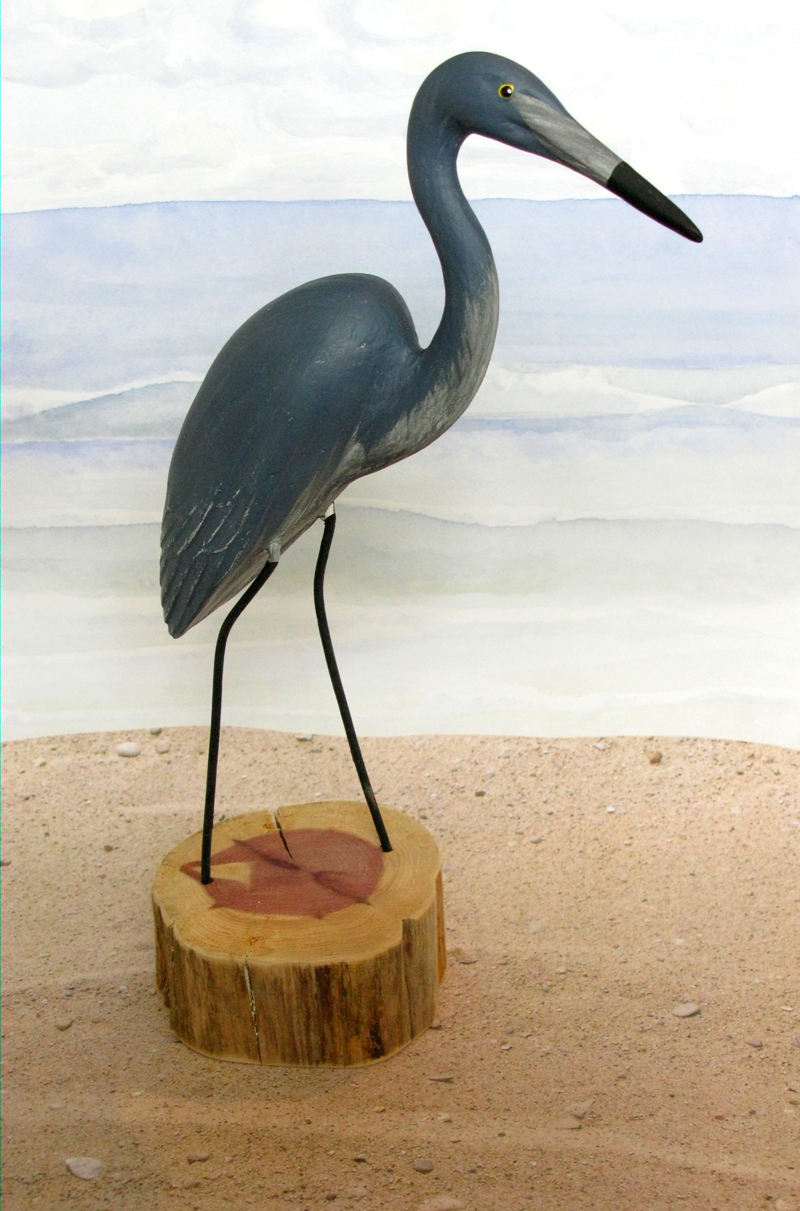 Carved Blue Heron