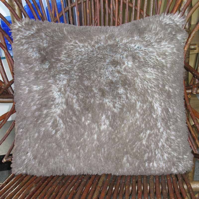 Throw Pillow in Arctic Fox Faux Fur