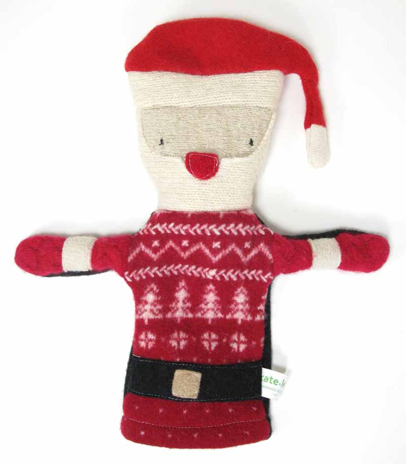 Reclaimed Wool Puppet - Santa