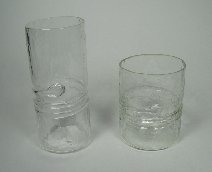 hand-blown glasses in clear