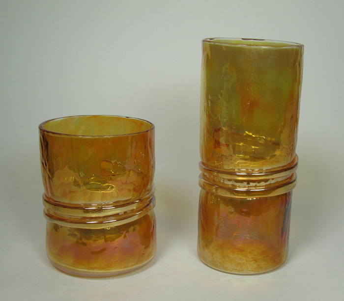 Hand-blown Glasses in Gold