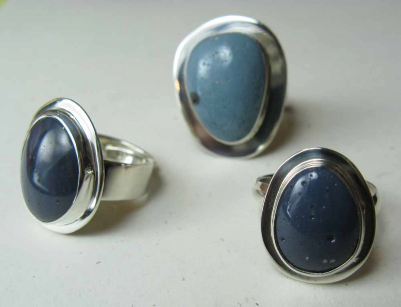 Leland Blue Stone Rings with Frames